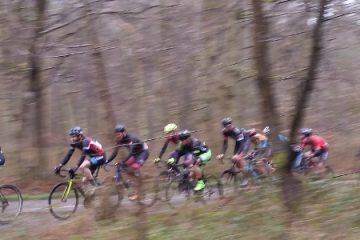 Riders climbing the finish hill